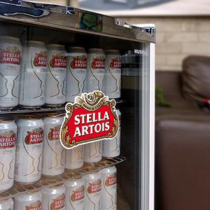 Stella-Artois Cooler - Close up of door