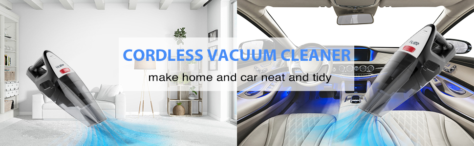 Holife Handheld Vacuum Cleaner Cordless, 【3rd Upgraded Gen】 8Kpa 22.2V Hand Held Car Vac, Rechargeable Battery Cordless Vacuum for WetDryHomeCar