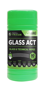 cleaning wipes, glass wipes, mirror tiles, glass act, nac industrial
