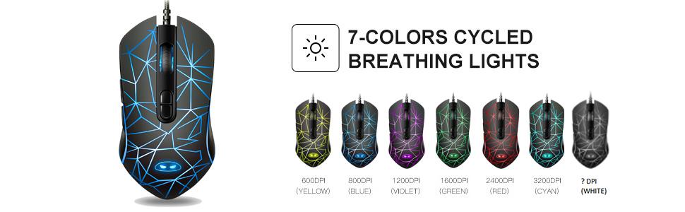 7 color breathinglights