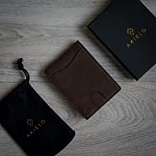 rifd wallet leather in black packaging perfect as a gift for men