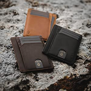 NFC leather wallet card holders