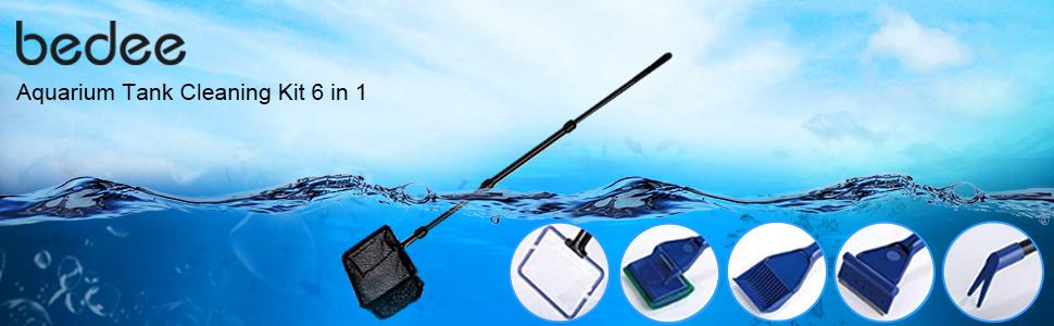 bedee aquarium tank cleaning kit 6 in 1