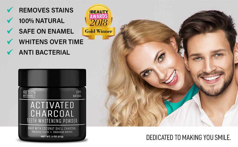 Pro Teeth Whitening Activated Charcoal Smile Tooth