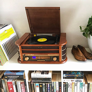 Denver MCR-50 Retro Wooden Music Centre Hi-Fi With Record Player, CD  Player, Cassette Player, FM/AM Radio, USB, AUX IN - Record to MP3, RCA  Output