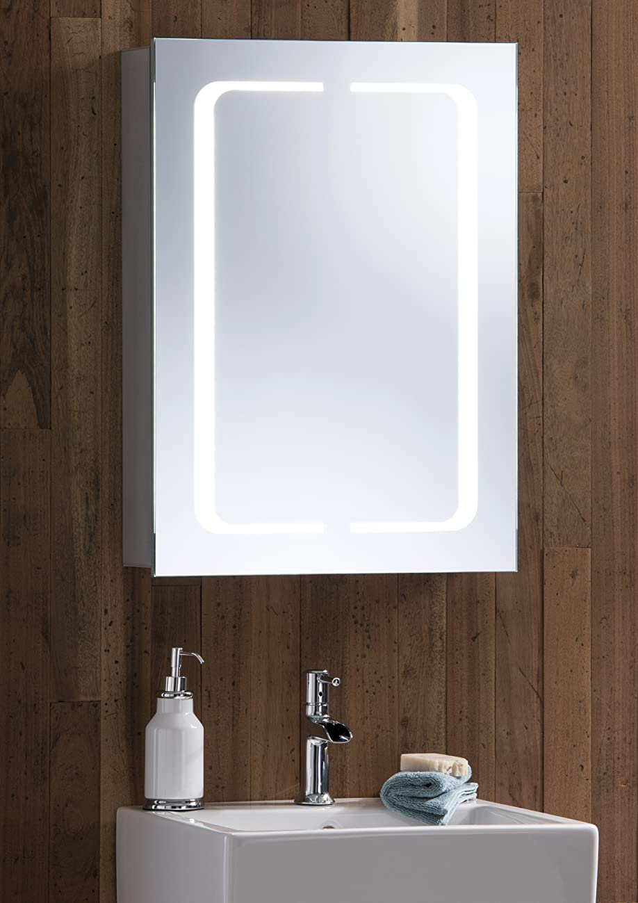 heated bathroom mirrors led illuminated bathroom mirror cabinet with lights wire 13095