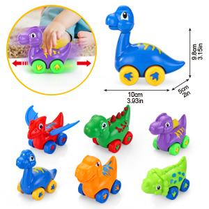 Dinosaur Pull Back Vehicles