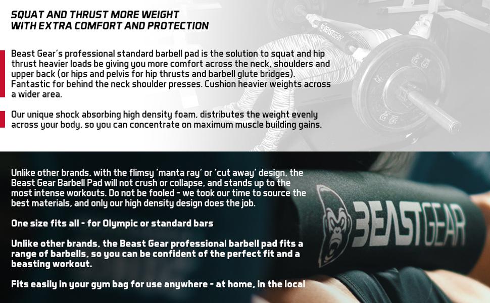 Beast Gear barbell squat pad hipsthrusts