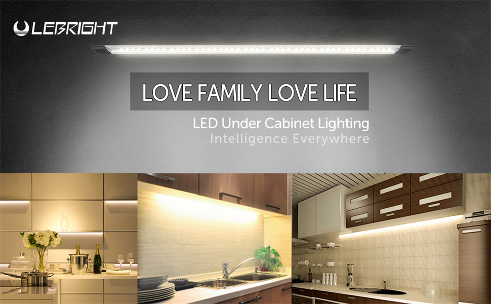 Lebright cabinet light dimmable ultra thin led under cabinet light lebright led under cabinet lighting dimmable led closet lighting with remote control ultra thin under counter lighting mozeypictures Gallery
