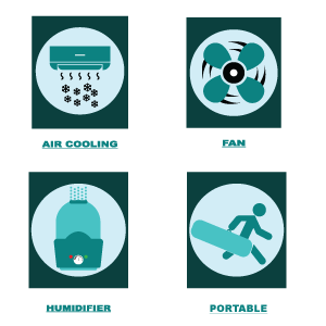 Air Cooler Icons
