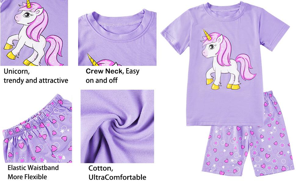 girls pyjamas girls clothing unicorn pyjamas