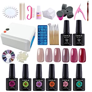Coscelia 36w Uv Led Gel Nail Polish Nail Art Soak Off Varnish Manicure Gel Nail Starter Kit 10ml