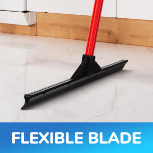 Extra-Wide 60 CM Natural Rubber Solid Heavy Duty Floor Scrubber Squeegee