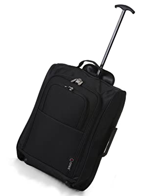 TB023-830 BLACK TROLLEY BAG