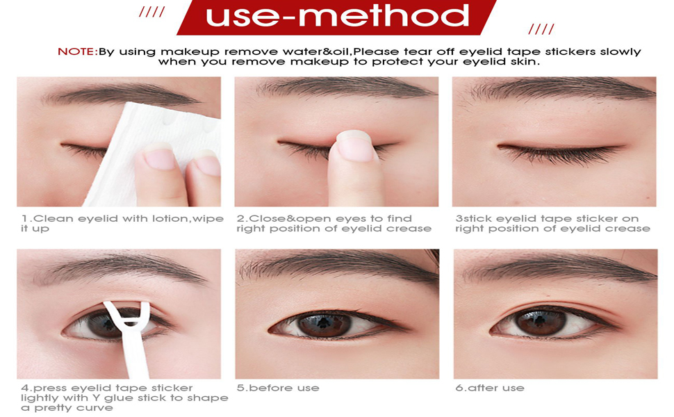 Lameila Ultra Invisible Fiber Double Eyelid Tape Stickers - Instant Eye  Lift Without Surgery - Perfect for Hooded, Droopy, Uneven, or Mono-eyelids  ...
