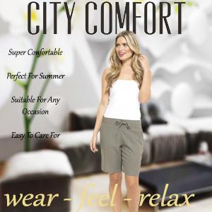 Grey Shorts Linen