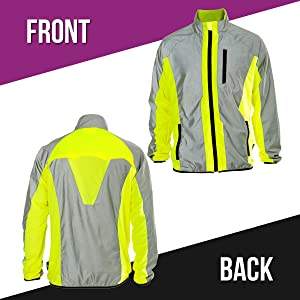 BTR High Visibility Reflective jacket with image of front   rear 41685a169