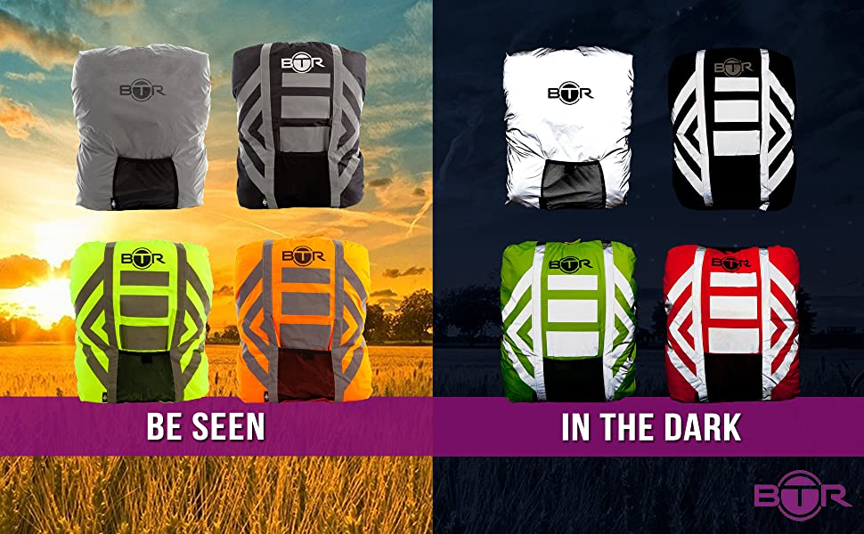 6b169a4688a6 BTR High Visibility   Reflective Rucksack Covers   100% Great Visibility in  the Day   Night