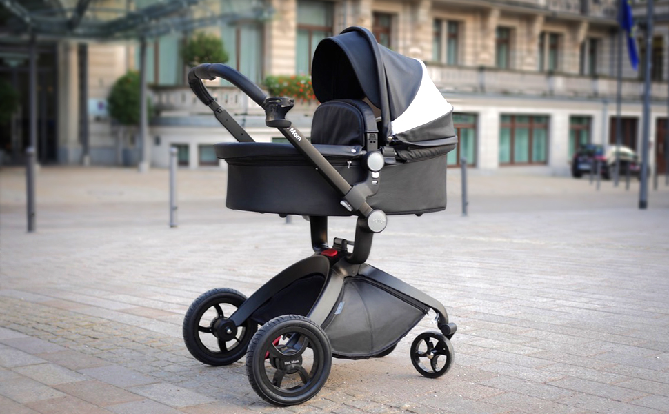 Hot mom pushchair in baby stroller travel system with