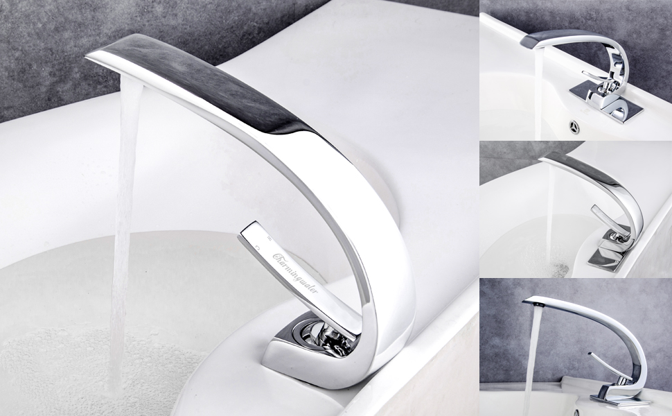 Stainless Steel Bathroom Sinks. Stainless Steel Bathroom Sink Faucet Chrome finish with Cover Plate Charmingwater Mixer Tap  Single Handle