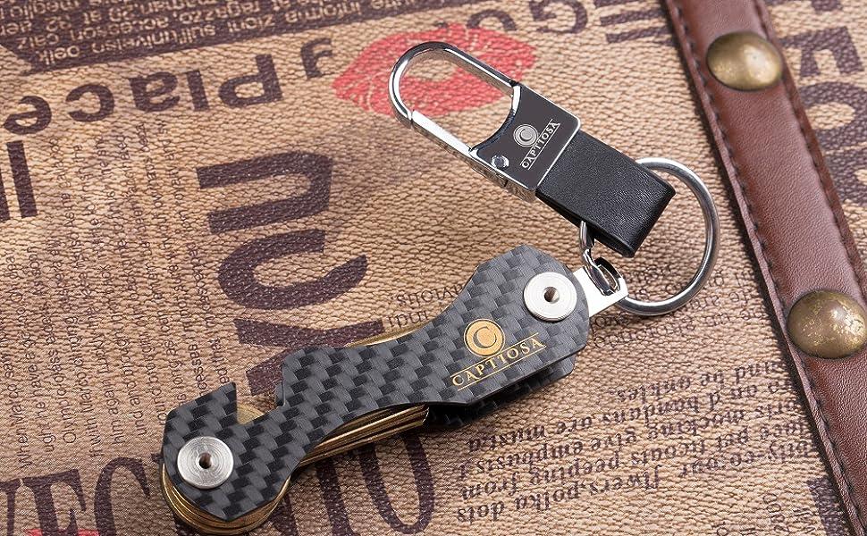 Fashion Key Organizer Holder Key Clip Smart Flexible Key Chains Case Keychain TE