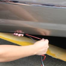 Door Edge Trim Strip Tuokay 32.8ft 10m Car Door Protectors without Stick Grey Rubber Covered U Shaped Spring Steel Edge Protection Strip