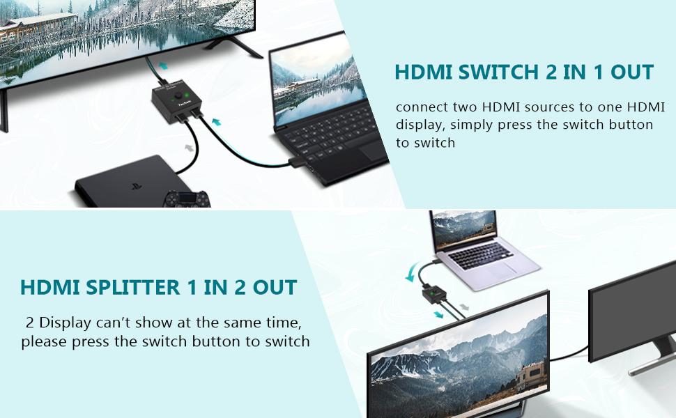 Bidirectional HDMI Splitter