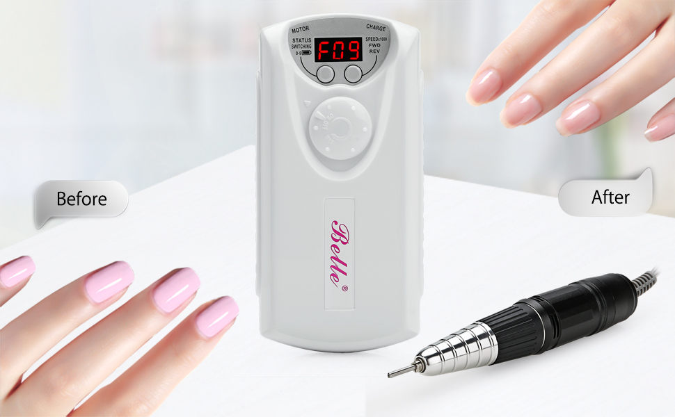 Belle 30,000RPM Nail Drill Machine Electric Nail File Manicure ...