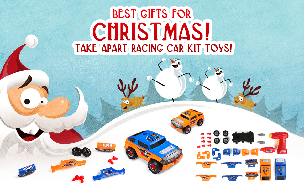 Virhuck 36 Pieces Take Apart Toy Car For Kids Gifts Assemble Off