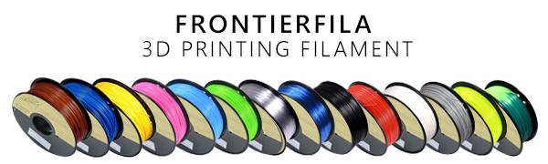 3D Printer filament, FrontierFila, PLA, ABS, PETG, 3D Printing, Filament