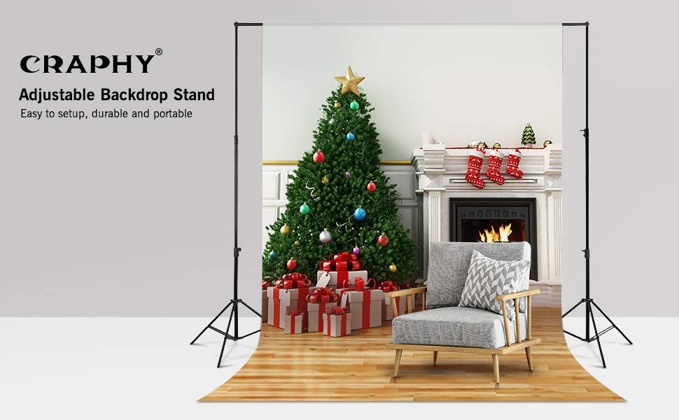 CRAPHY Adjustable Backdrop Stand
