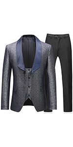 Mens Suits 3 Piece Slim Fit Tuxedo Jacket Business Wedding Dinner Party Wear Prom Dresses