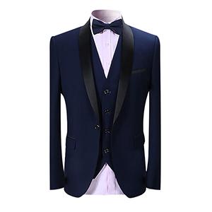 mens suit  tuxedo 3 pieces black navy blue wine red formal slim fit wedding business dinner tuxedo