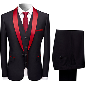 mens suits 3 pieces formal slim fit wedding business dinner tuxedo suits jacket daily suit