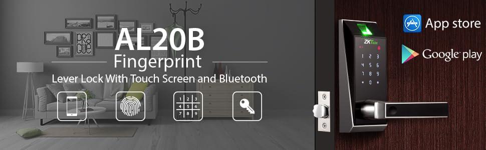touchscreen bluetooth door lock