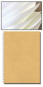 Cuadernos de espiral de cuadrícula A5, paquete de 3 cuadernos cuadrados de papel kraft de 5 mm cuadrados
