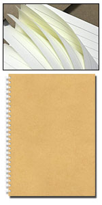Cuaderno de espiral A5 rayado, 3 unidades, tapa suave, color marrón