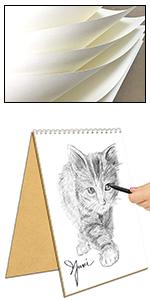 Cuaderno de dibujo en espiral A5, 3 unidades, papel kraft, 100 páginas, 50 hojas