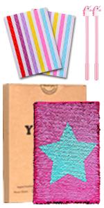 Cuaderno de lentejuelas – Diario reversible de lentejuelas