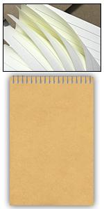 Paquete de 3 cuadernos de espiral A5 con cubierta de papel kraft forrada
