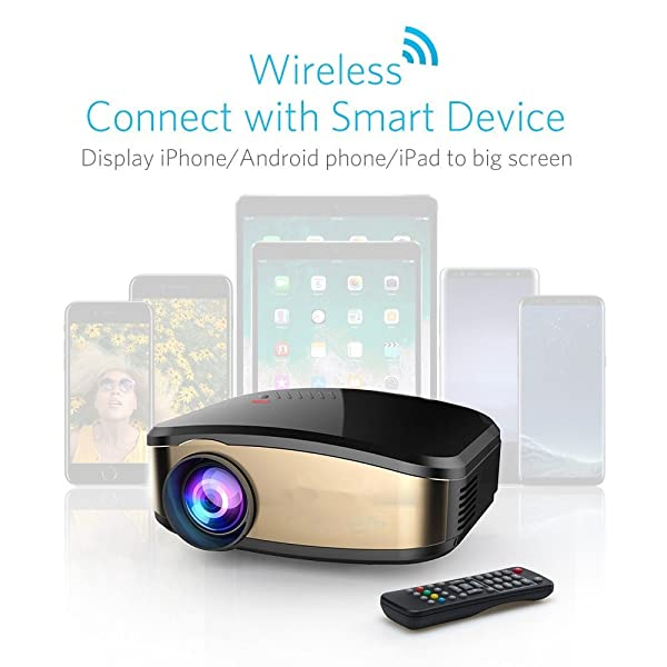 Wireless Display Projector, HuiHeng LCD Mini WiFi: Amazon ...