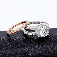 Anillo de mujer, anillo de oro rosa para mujer, anillo de aniversario para ella