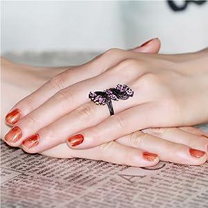 ring for girls,ring for women,pink ring,purple ring,red ring