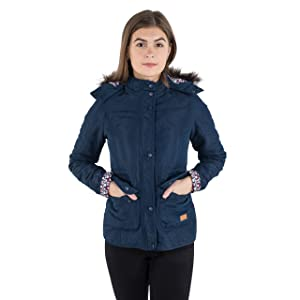 ff452e7a61e77 Trespass Jenna Womens Quilted Jacket in Navy Purple   White ...