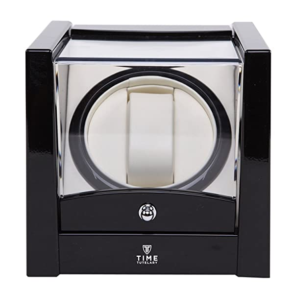 a high gloss black piano finish watch winder is a perfect companion for your premium automatic watch it keeps your luxury watches fully wound and charged - Automatic Watch Winder