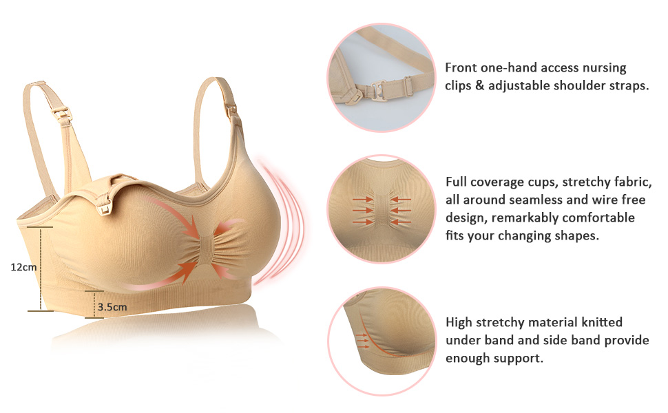 33c0d9c015bcf comfortable nursing bra maternity pregnacy full coverage mommy nursing  adjustable seamless wirefree