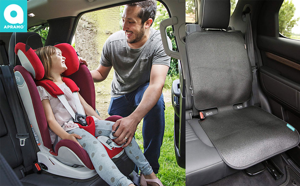 ISOFIX Compatible Black Non-Slip Easy Cleaning Baby Car Back Seat Protector Car Seat Protector 2 Pack Car Seat Protectors for Child Seats