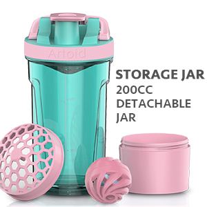 Comes with detachable jar to store your favorite snacks, protein powder, vitamin and supplement