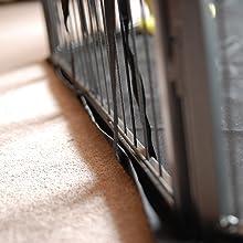 Mat X Large Base Liner Heavy Duty Waterproof Black Universal 8 Side Pet Pen Run