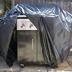 Speedwellstar Very Heavy Duty BBQ Cover Barbecue Waterproof Breathable 120x145x70 Velcro Large Dual